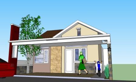 Gambar Teras Rumah Kampung Sederhana  renovasi muka rumah dengan cara hemat eramuslim