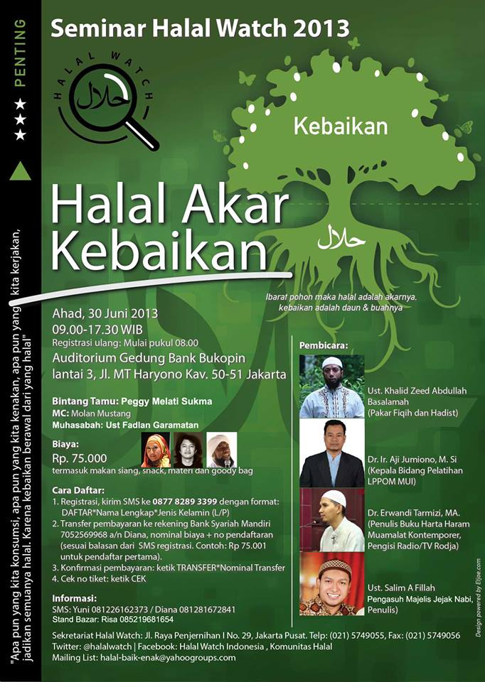 flyer seminar halal watch 2013