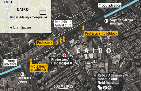 Cairo massacre graphic