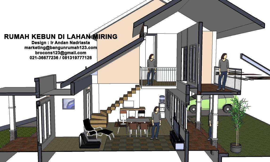 Konsultasi Arsitektur Rumah Kebun Di Lahan Miring Eramuslim