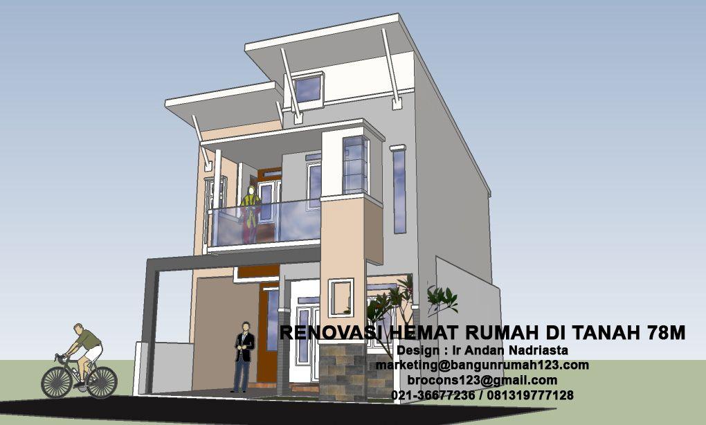 konsultasi arsitektur renovasi hemat rumah di tanah 78m