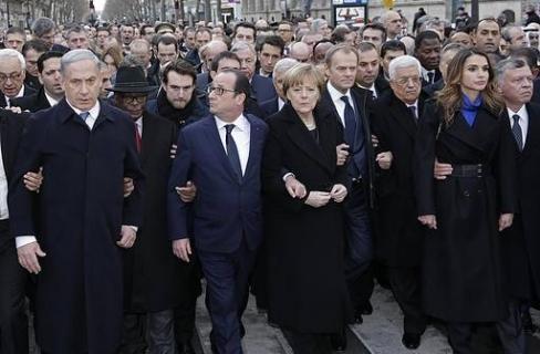 Netanyahu di pawai paris