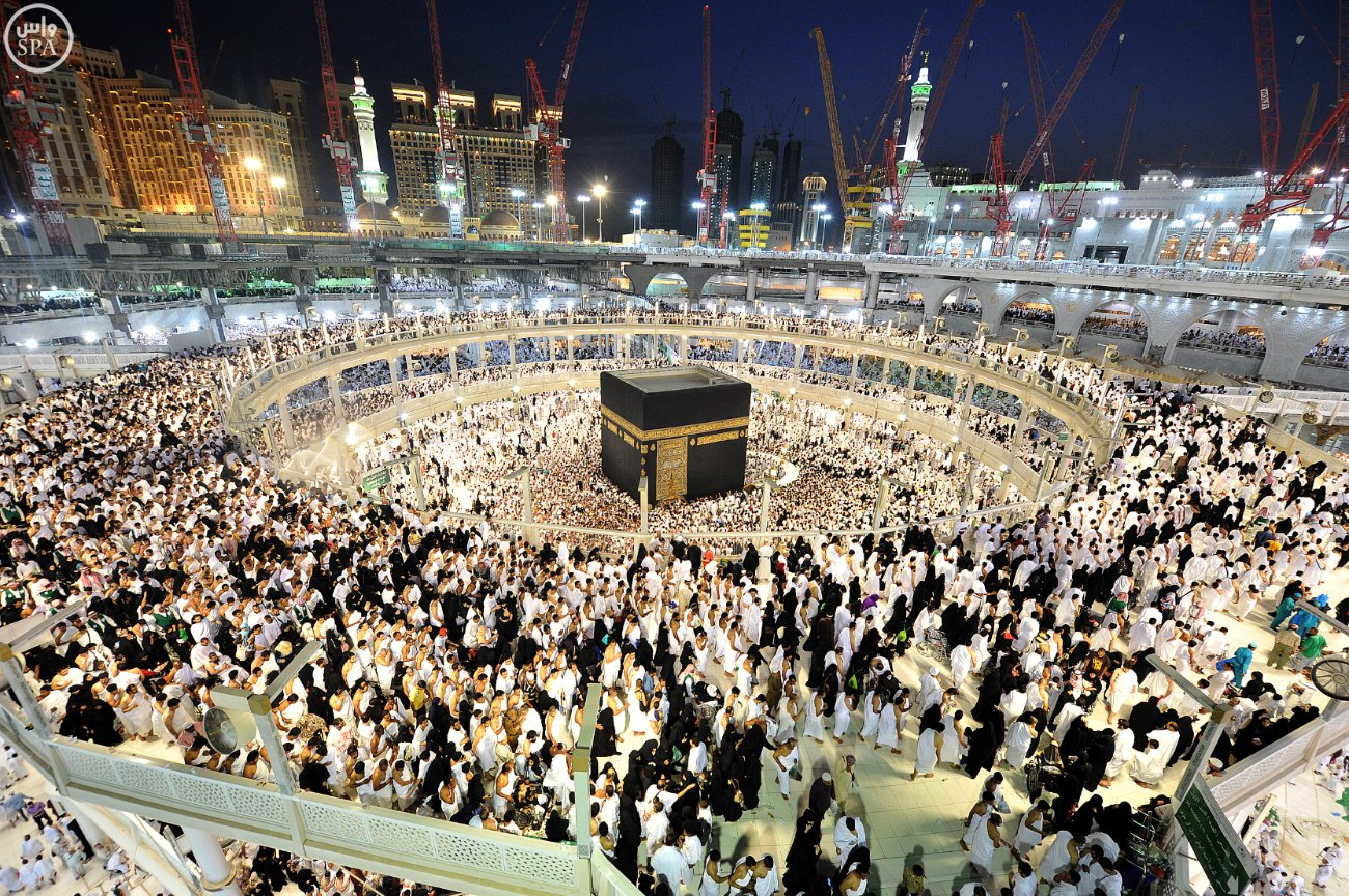 Masjidil Haram di malam ke 27 - di tempat tawaf