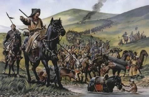 ilustrasi peperangan Malazgirt