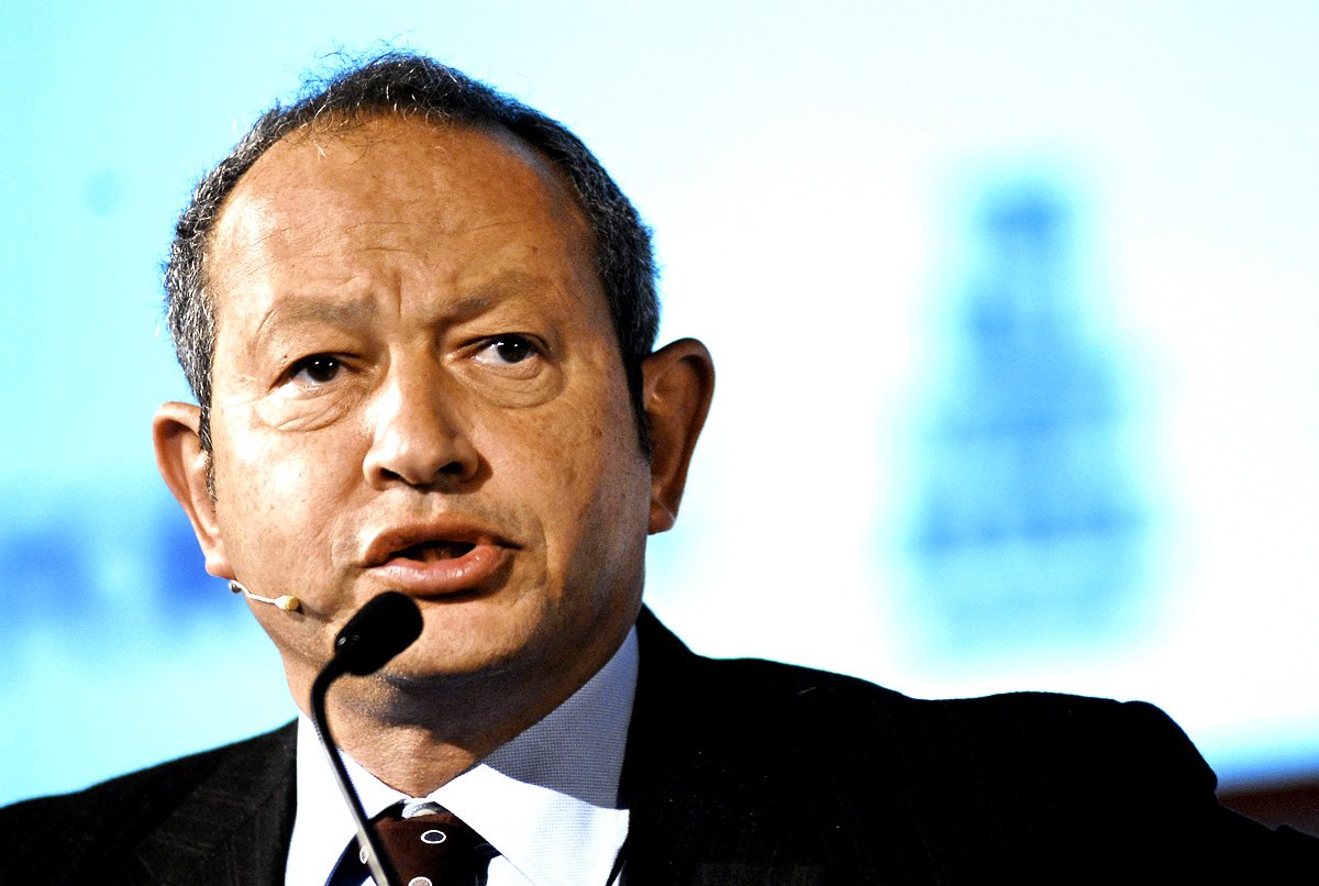 Naguib Sawiris, chief executive officer of Orascom Telecom Holding SAE, speaks during the 3GSM World Congress in Barcelona, Spain, on Tuesday, Feb. 13, 2007. Orascom Telecom Holding SAE, the biggest mobile-phone company in the Middle East, formed a joint venture with Korek Telecom to offer wireless services in Iraq after dropping out of the bidding for a license. Photographer: Xabier Mikel Laburu/Bloomberg News