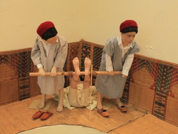 Museum Pendidikan Tunisia - cara menghukum murid yang bandel